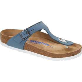 Birkenstock Gizeh Flips Nubuk Leather Regular Women, dove blue